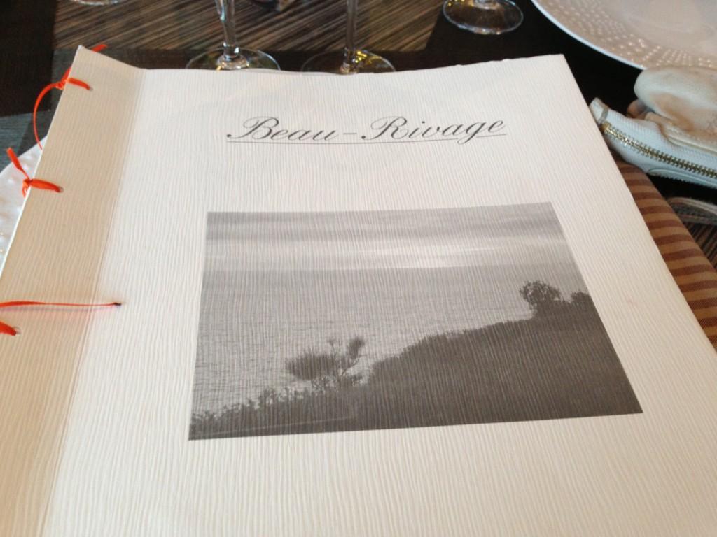 Le menu du restaurant Beau Rivage se découvre